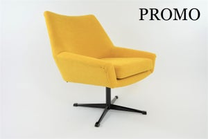 Image of Fauteuil coquille pivotante jaune