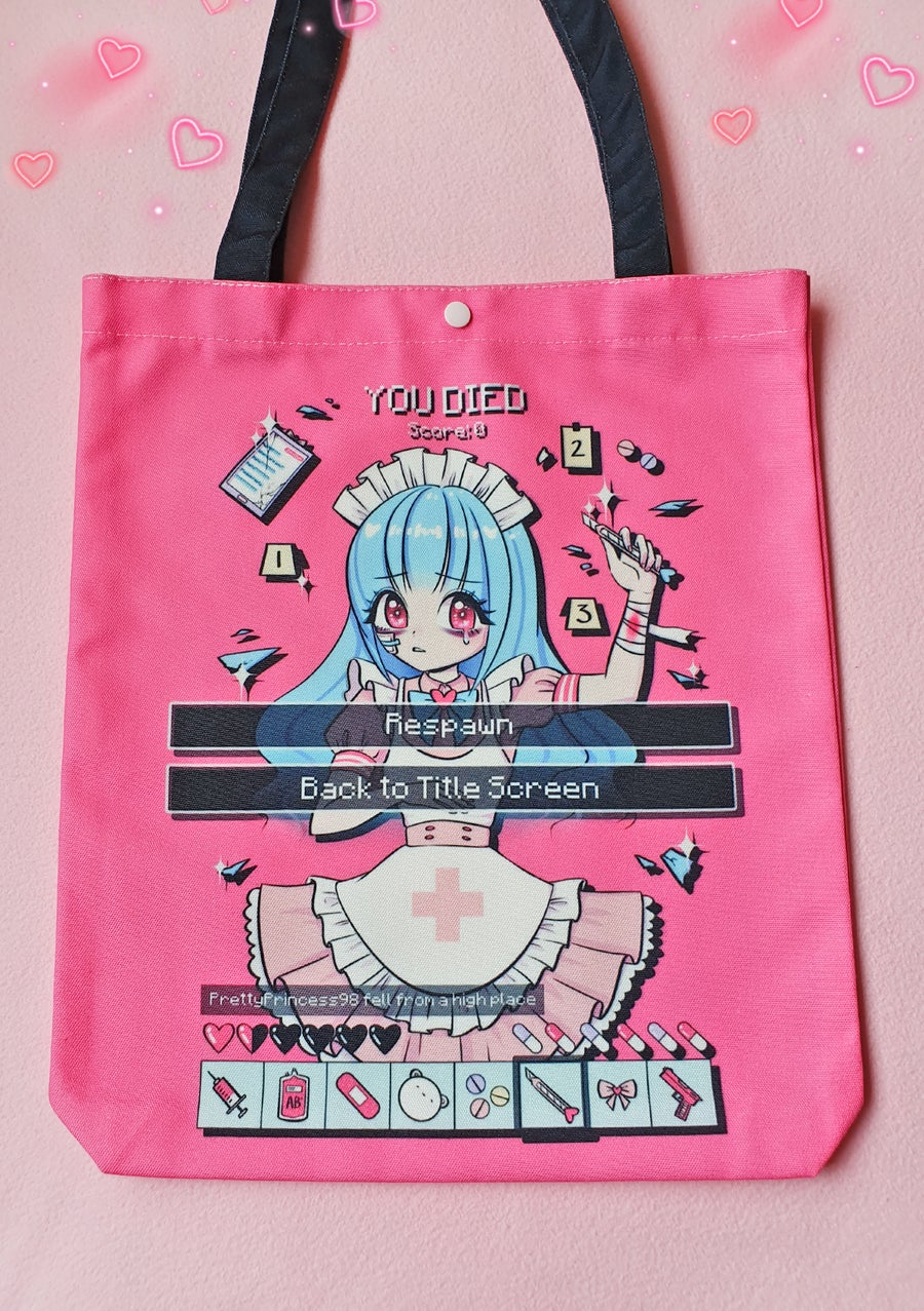 "Image of ""YOU DIED"" Totebag"