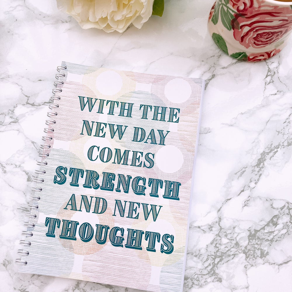 Image of 12 WEEK SPIRAL FOOD DIARY- WITH THE NEW DAY COMES STRENGTH
