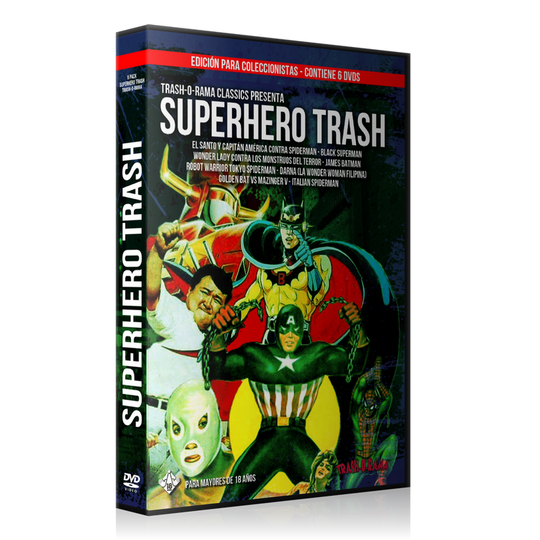 Image of Pack 6 DVD Superhero Trash