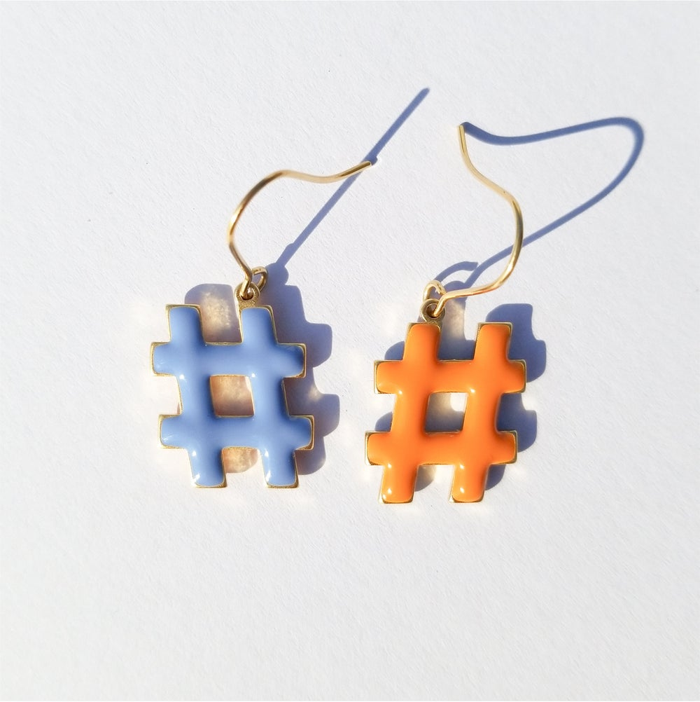 Hashtag Earrings • Pastel