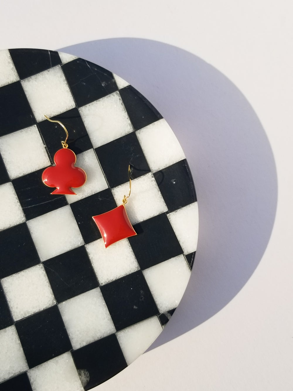 Mix & Match Earrings : Black & Maroon