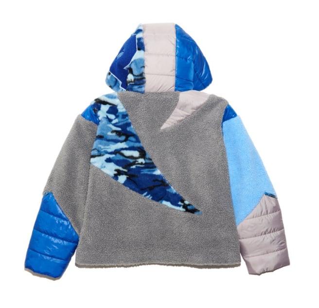 Blue camo puffer jacket