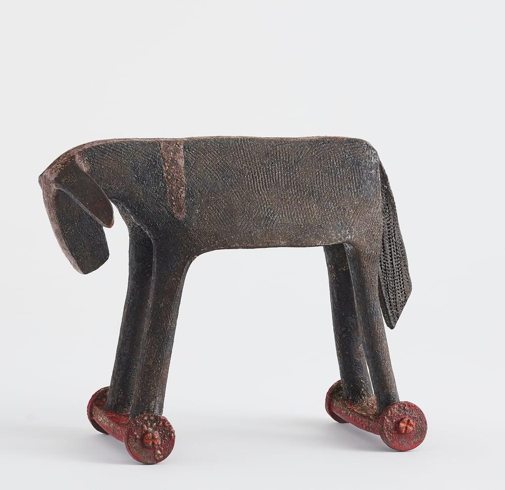 Image of Donkey on wheels