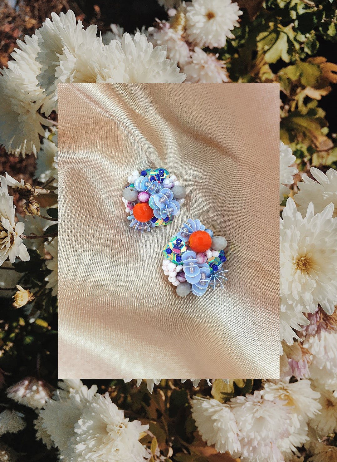 "Image of Exaltation, earrings, ""La mer"" new co"