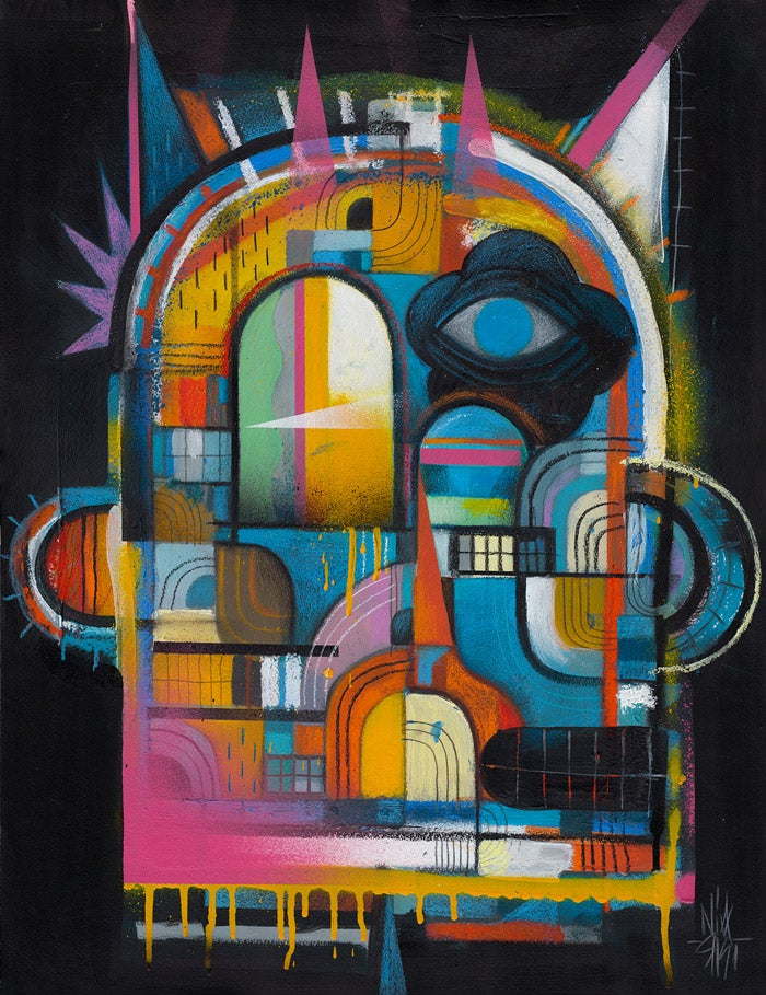 """Image of Abstract """" Night """" Portrait"""