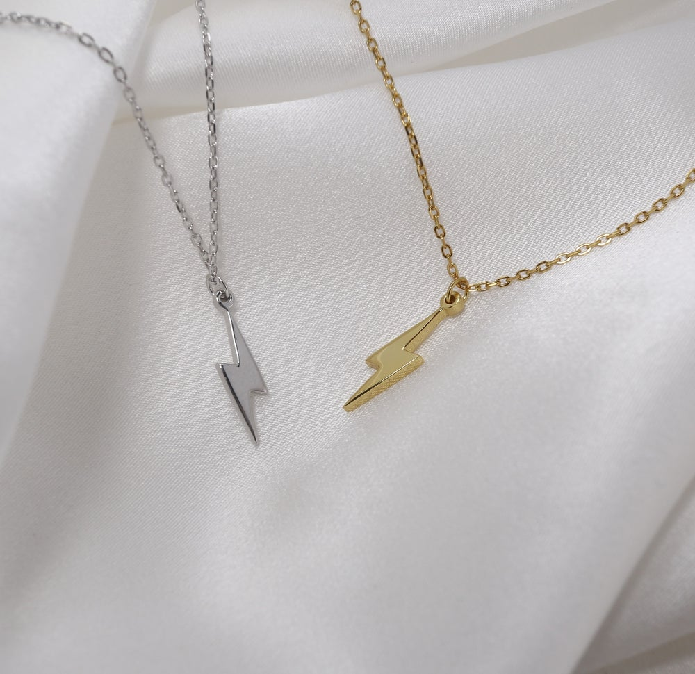 Lightning Bolt Necklace (925 Sterling Silver)