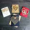 Cascading Heart Greetings Card with Hanging Keepsake