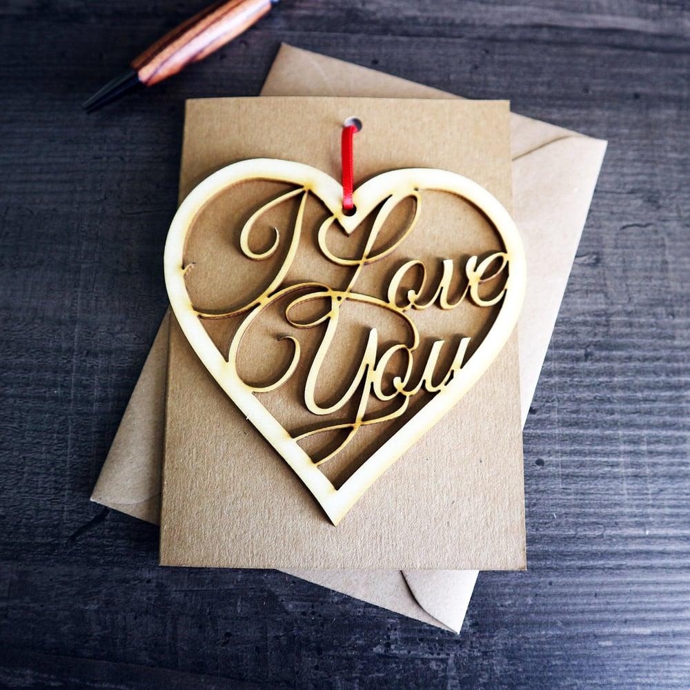 Image of I Love You - Hanging Keepsake and Card