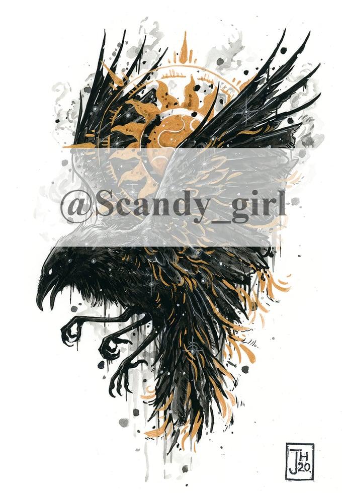 Image of EXTRA Mythtober Zansuwu/three Legged crow