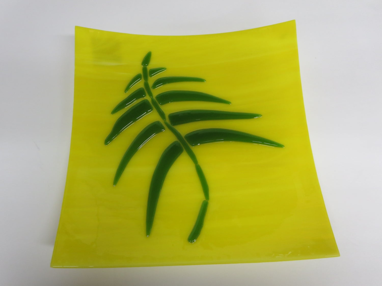 Yellow Fused Glass Serving PLate - BHG-087