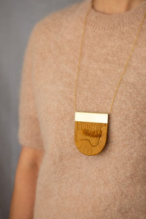 Image of LUXE pendant in Cerise