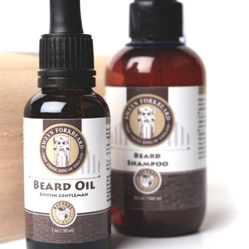 Image of Beard Oil & Beard Shampoo Wooden Box