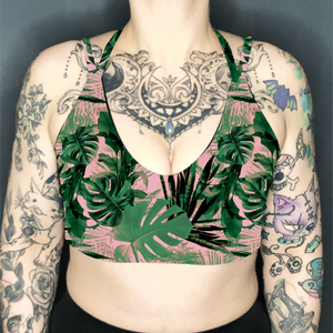 House Plants Deep Plunge Strappy Crop Top