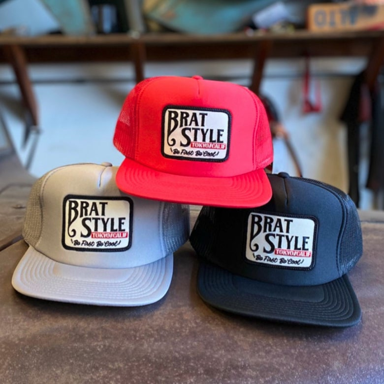 Image of BRAT STYLE TRUCKER HAT w/z patch