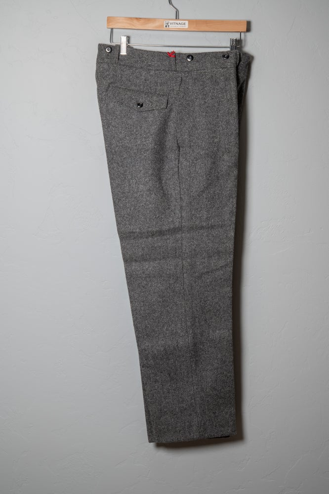 Image of Deadstock Vintage WOOLRICH 1978 Wool Hunting Pants Heather Gray Thick Heavy Duty Sz 34 x 30