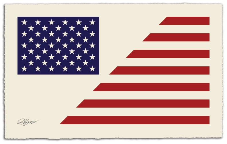 "Image of ""Stars"" & Stripes America Divided - Cream Edition"