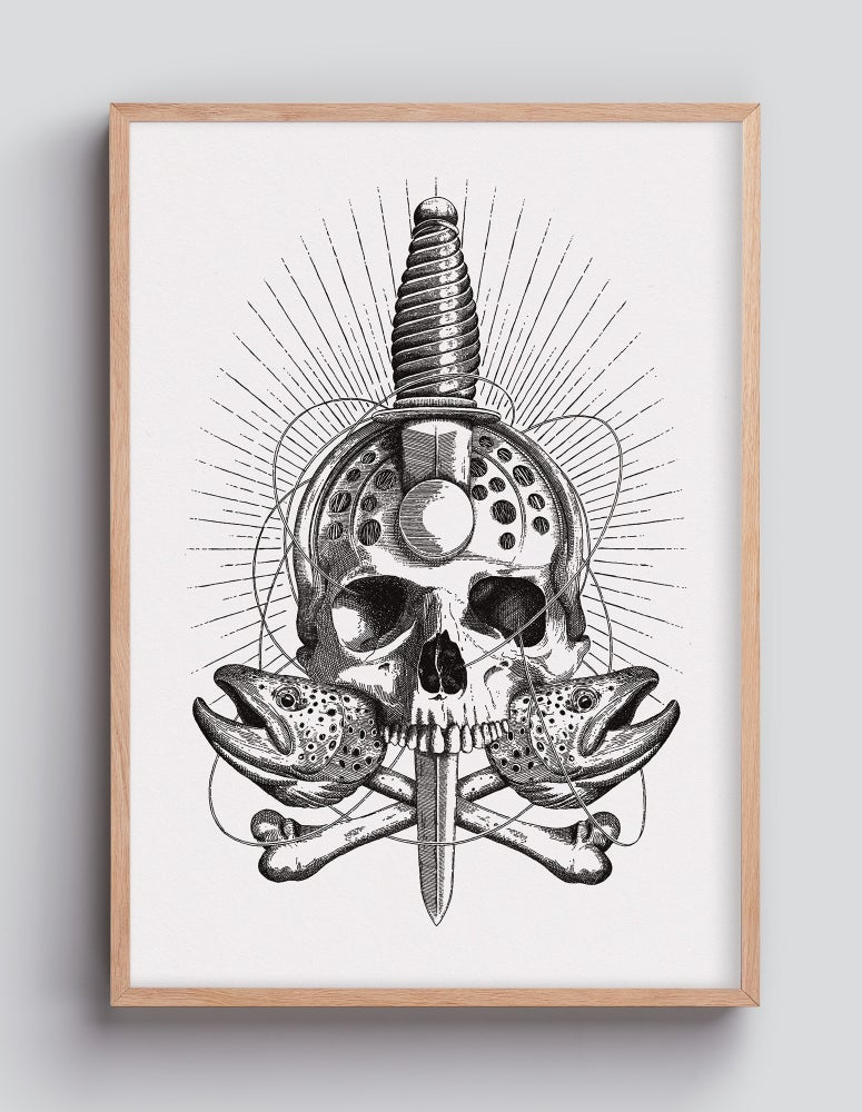 Image of Reel Skull 30×42