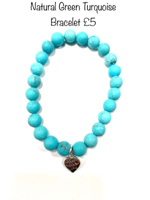 Image of Natural Green Turquoise Well Being Stones Prices Start From £4