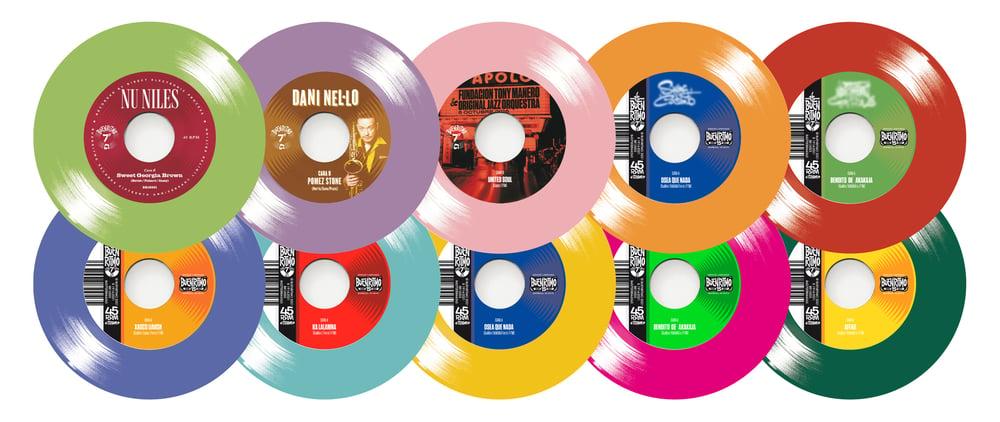 PREORDER Colección 10 singles 15 Aniversario Buenritmo Edición limitada 150 copias vinilo de color