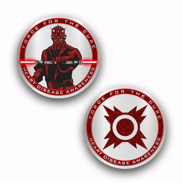 Image of Force For The Cures: Heart Disease Awareness Challenge Coin