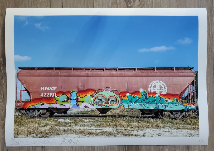 Image of 3I7 x Ahol x Zink PRINT (edition of 50)
