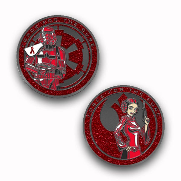Image of Force For The Cure: Heart Disease Awareness Challenge Coin