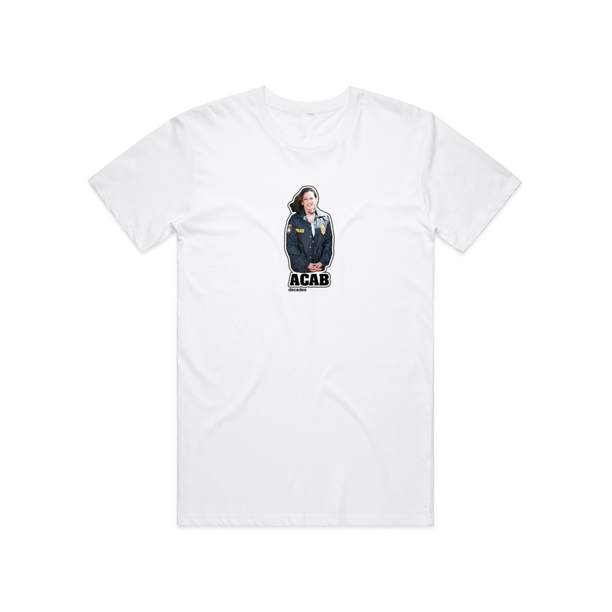 Image of Kamala Is A Cop Tee white