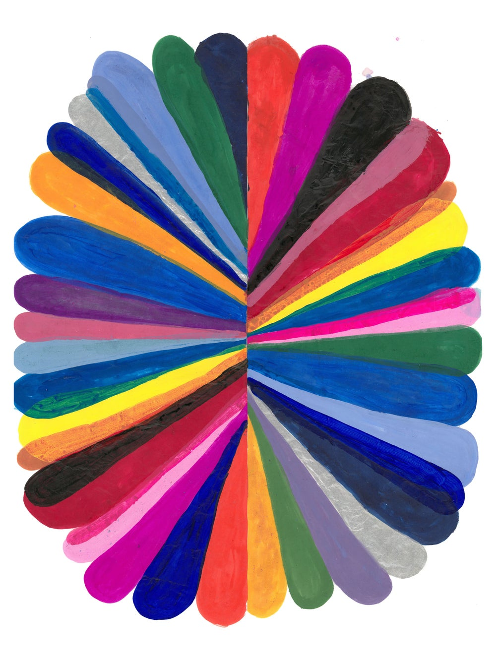 Image of Rainbow Flower Diptych Giclee Print (Giclee print  number 1)