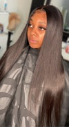 Modest collection straight lace wig