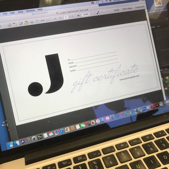 Image of Gift Voucher - PDF Printable via email.