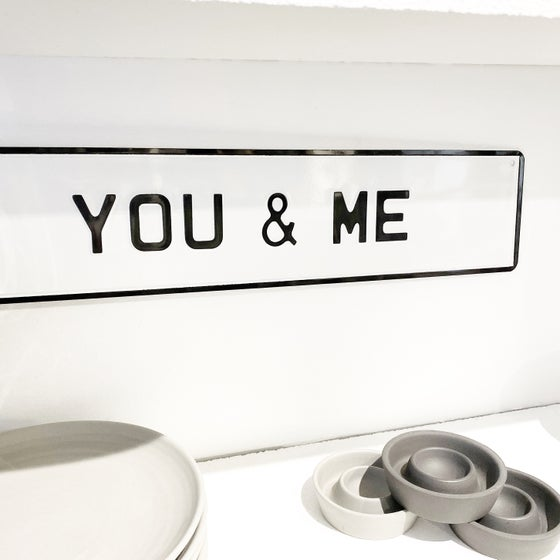 Image of YOU & ME - METAL SIGN
