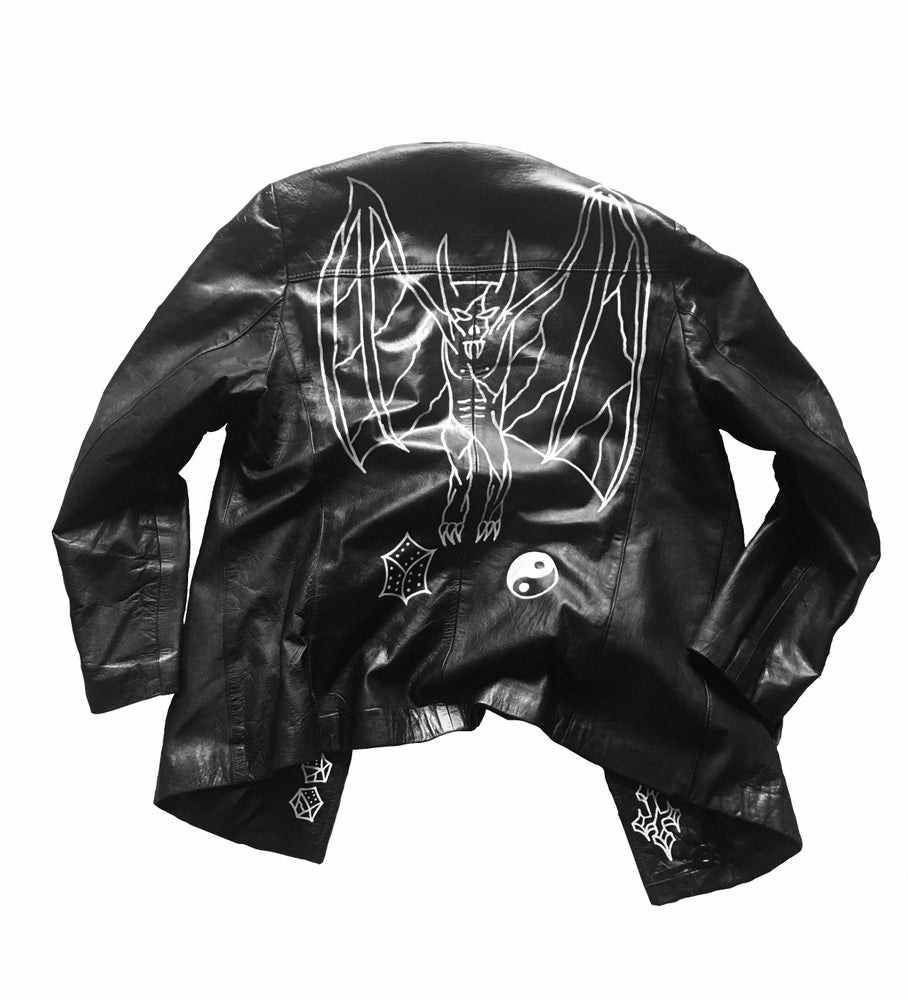 "Image of ""Watch your back""Leather jacket"