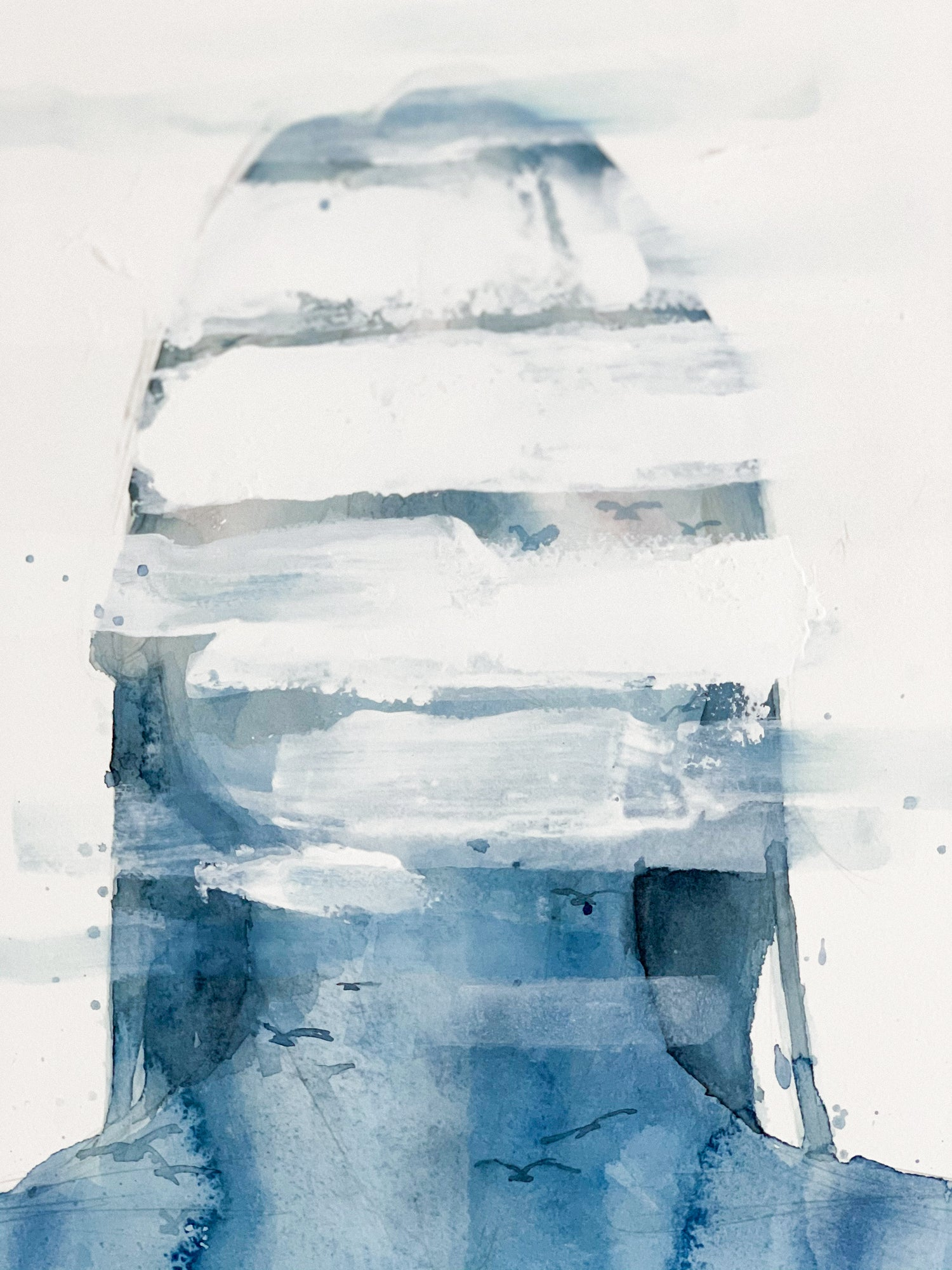 Agnes-Cecile staring at the sky
