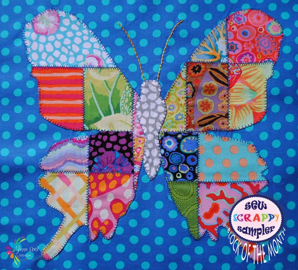 Image of Sew Scrappy ~ Block of the Month Sampler Quilt