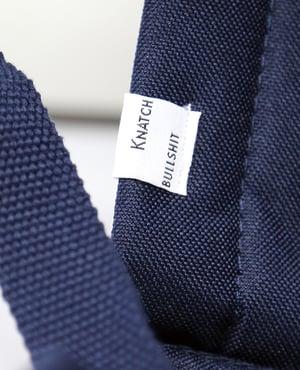 Image of Blue Knatchbull Old School Lemmy laptop backpack.