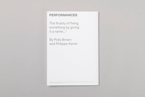 Image of Polly Brown 'Performances ...'