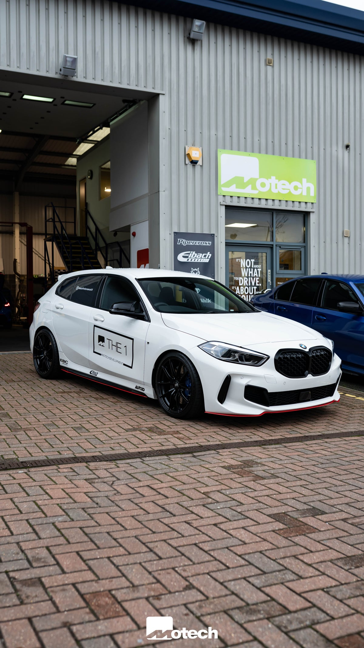 Image of BMW F40 M135i Maxton Red Front Splitter