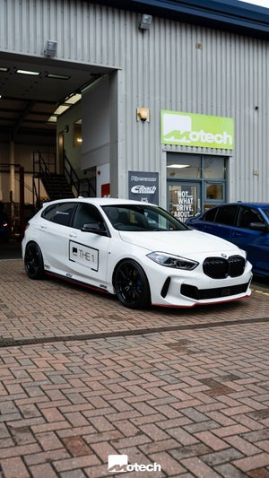 Image of FRONT SPLITTER (RED) BMW 1 SERIES F40 M135I /M-SPORT (2019-)