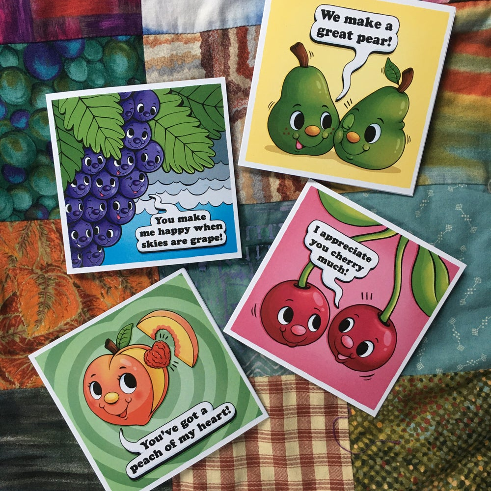 """Fruits of Love"" Greeting Card Set"