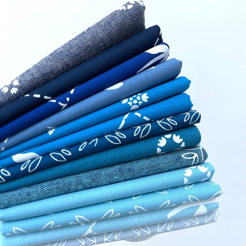 Image of Blue Fabric Panels