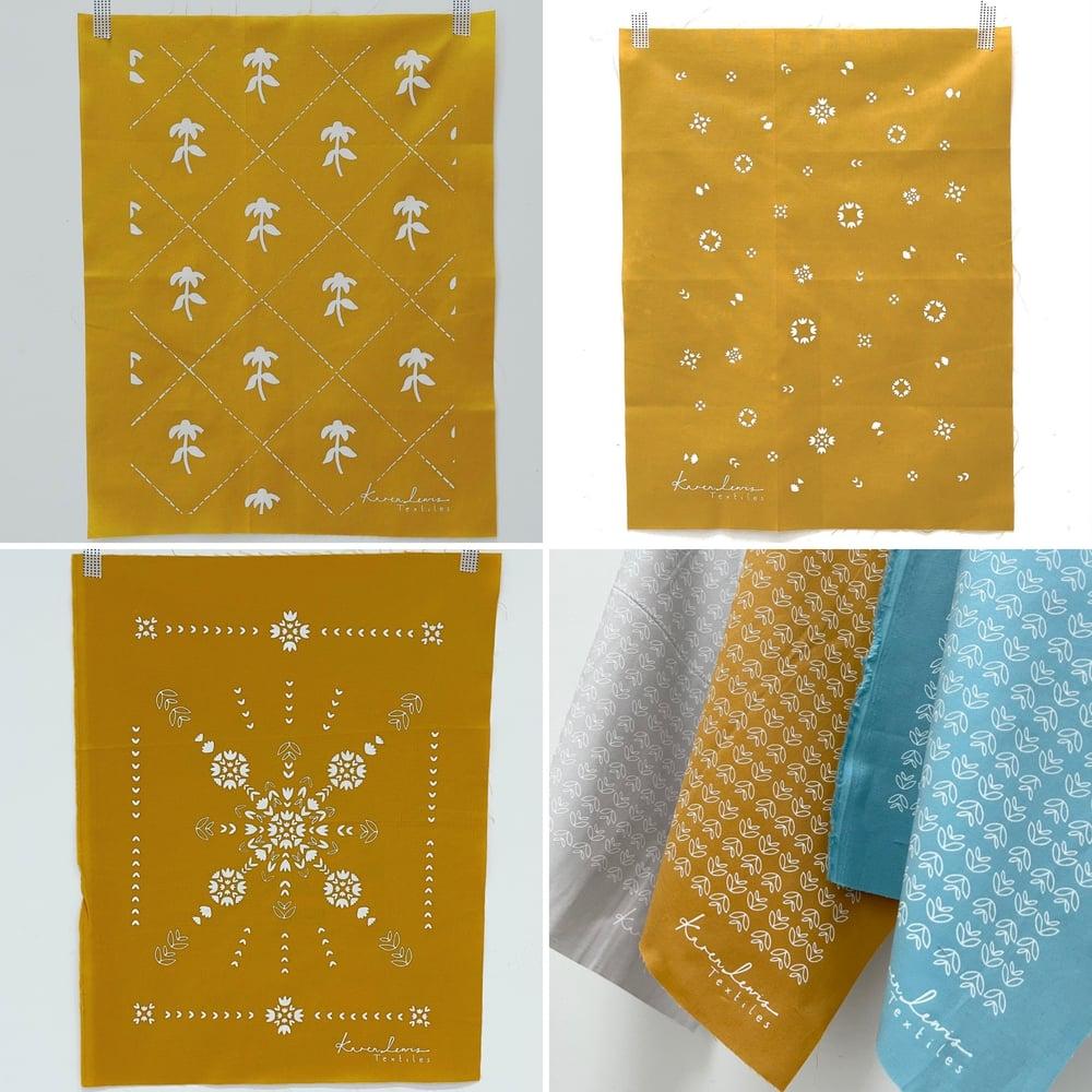 Image of Black + Grey Fabric Panels
