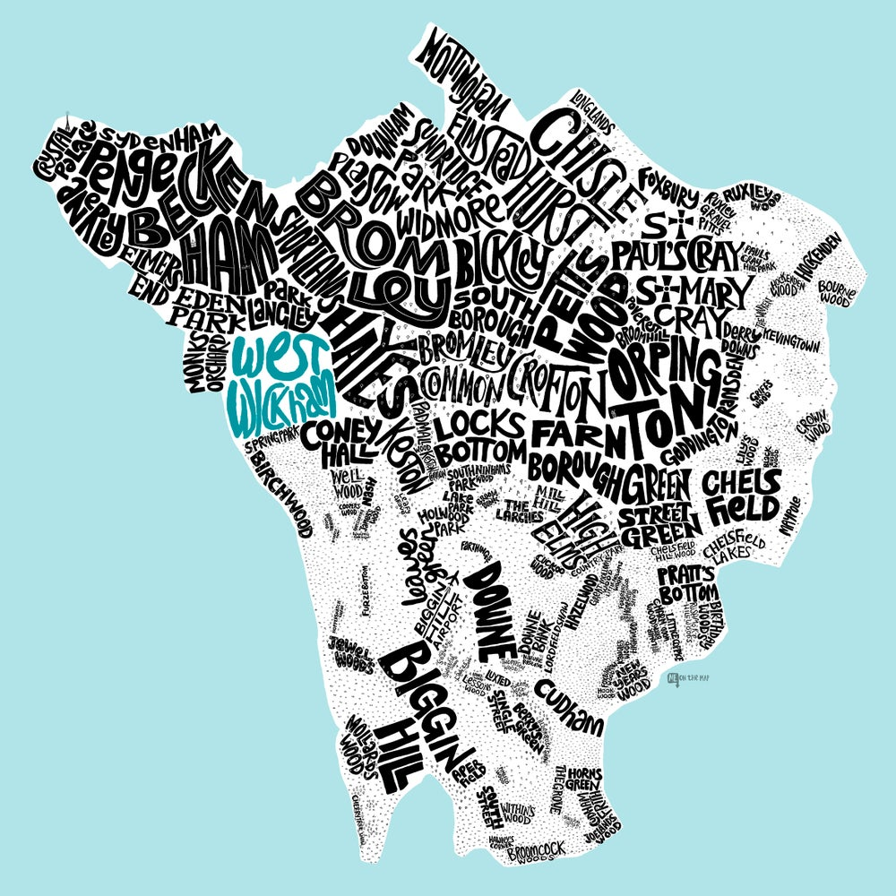 Image of London Borough of Bromley Type Map