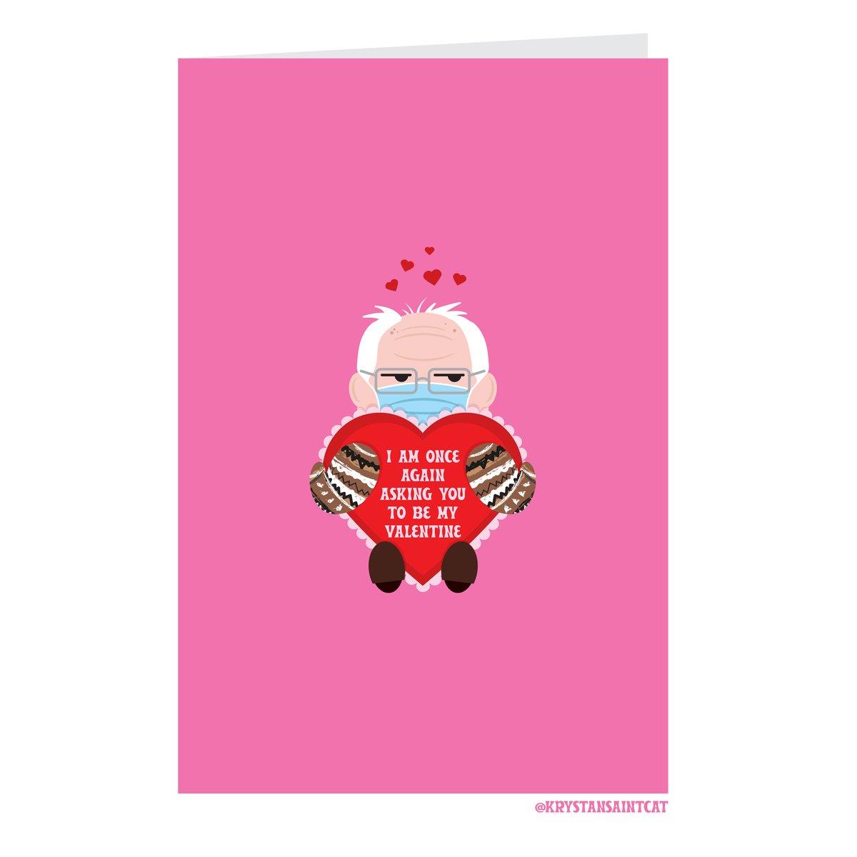 Image of Bernie Mittens Valentine Card