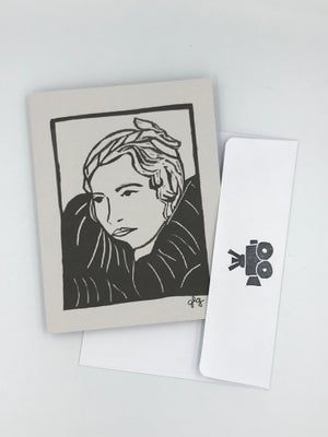 Image of Barbara Stanwyck note card