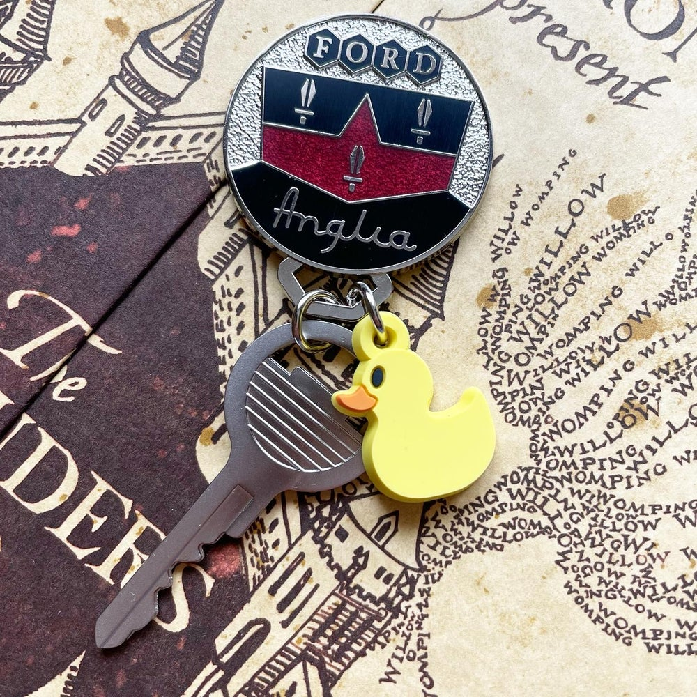 Image of Flying Car Key and Keychain