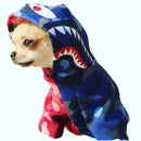 """Image 1 of Dogs5thAvenue Bape """"Doggie"""" Hoody (red/blue)"""