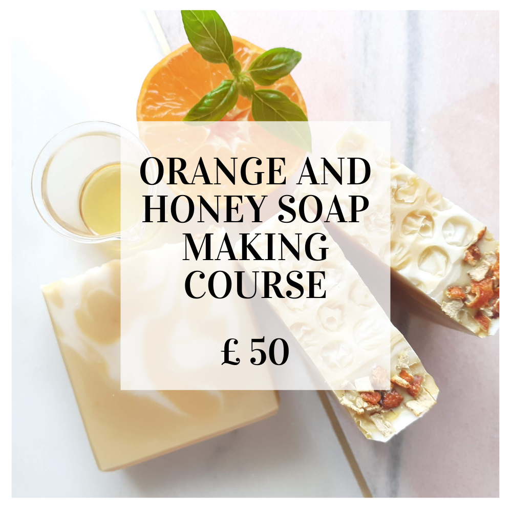 Image of Orange and honey soap making course (live online)