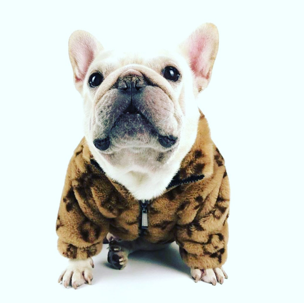 """Image of Dogs5thAvenue Lv """"Doggie"""" fur Coat (brown)"""