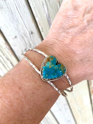 Heart of Turquoise Cuff